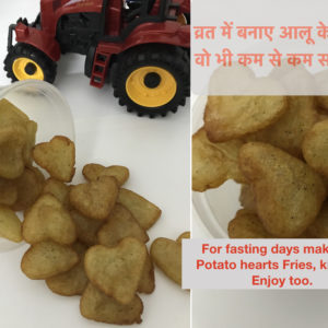 Potato Hearts For Fasting