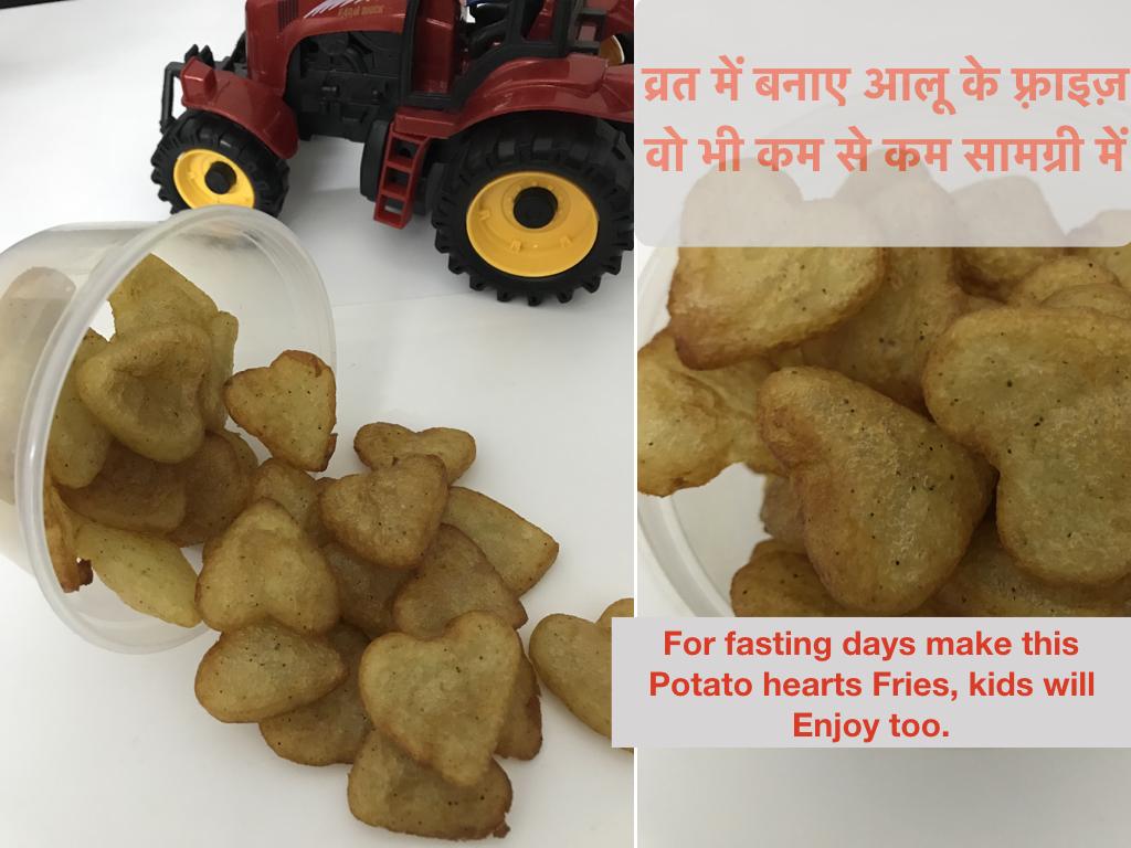Potato Hearts For Fasting